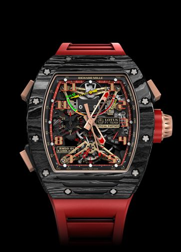 7e9b6e23978 RM 50-01 TOURBILLON CHRONOGRAPH G-SENSOR LOTUS F1 TEAM – ROMAIN GROSJEAN. Richard  Mille Watches ...
